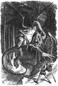 Бой с Бармаглотом. Рисунок Дж. Тенниела. ru.wikipedia.org