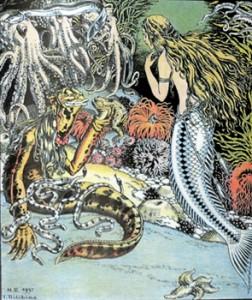 «Русалочка» глазами Ивана Билибина. Иллюстрация из книги © Независимая газета